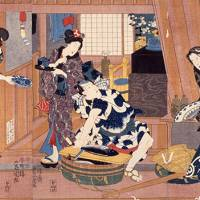 The Art of Polychrome Prints of Attractive Women and Kabuki Actors in Edo Period by Utagawa Kunisada