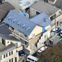 The apartment complex where nine bodies were discovered in Zama, Kanagawa Prefecture, in October. | KYODO
