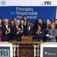 The establishment of the Principles for Responsible Investment in 2006. | PRI