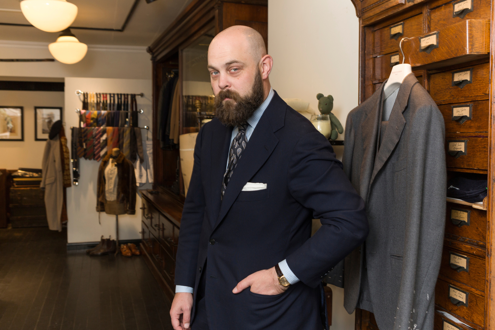 Style and substance: 'If only men who could would plan their wardrobes, and work with tailors, instead of asking their girlfriends what they should wear,' the world would be a better place, says Ethan Newton, proprietor of Bryceland's Tailors in the Jingumae district of Tokyo's Shibuya Ward. | CHRISTINA SJOGREN