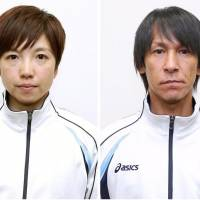 Nao Kodaira (left) and Noriaki Kasai have been picked to serve as Japan captain and flag-bearer, respectively, for the opening ceremony at the Pyeongchang Winter Games, the Japanese Olympic Committee announced on Tuesday. | KYODO