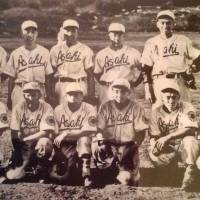 The Vancouver Asahi are seen in a file photo taken in 1940. Koichi Kaminishi, the last living member of the team, is pictured in the back row, second from left. | KYODO