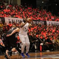 Niigata star Davante Gardner, seen in action during Sunday's B. League All-Star Game, leads the B. League in scoring with 29.1 points per game. | B. LEAGUE