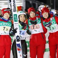 Japan women's ski jump squad wraps up season sweep in World Cup team events