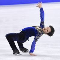 Shoma Uno performs during the All-Japan Championships on Dec. 24. | KYODO