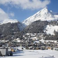 Davos is surrounded by snow-capped mountains. | ANDY METTLER