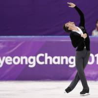 Javier Fernandez of Spain performs in the men's single skating short program competition at Gangneung Ice Arena. | REUTERS