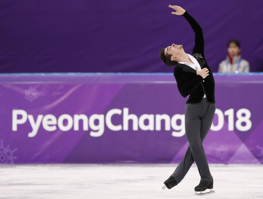 Javier Fernandez of Spain performs in the men