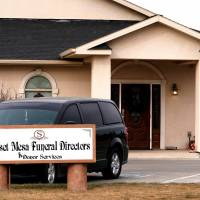The Sunset Mesa Funeral Directors and Donor Services building is seen in Montrose, Colorado,in December. | REUTERS