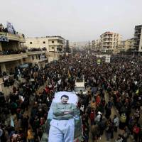 Thousands throng streets of Syria's Afrin to denounce Russian backing of Turkish-led assault on Kurds