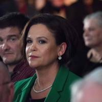 Mary Lou McDonald takes over from Gerry Adams as Sinn Fein party leader