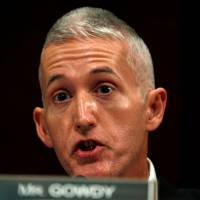 House Intelligence Committee member Rep. Trey Gowdy (R-SC) questions former CIA director John Brennan during a hearing on Russian active measures during the 2016 election campaign' in the U.S. Capitol in Washington last May.   REUTERS