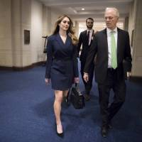 Key Trump aide Hope Hicks clams up before House panel in Russia probe