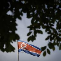 North Korea's flag flutters at the North Korean Embassy in Kuala Lumpur, Malaysia, in March 2017. | AP