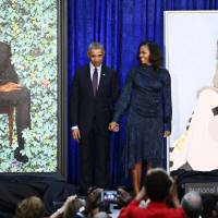 Obama jokes about his ears and gray hair as official portrait is unveiled