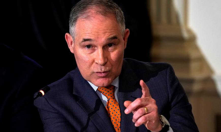 Under fire over taxpayer costs, EPA chief says he flies first class due to security concerns