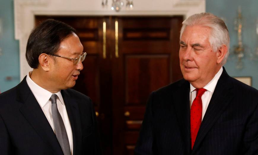 U.S. and China reaffirm commitment to pressure North Korea