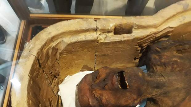 'Screaming Mummy' displayed in Egypt museum
