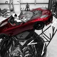 A mannequin 'Starman' sits at the wheel of a Tesla Roadster in this photo posted on the Instagram account of Elon Musk, head of auto company Tesla and founder of the private space company SpaceX. The car will be on board when SpaceX launches its new rocket, the Falcon Heavy, from Kennedy Space Center at Cape Canaveral, Florida, scheduled for Tuesday. | COURTESY OF ELON MUSK / INSTAGRAM / VIA AP