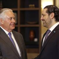 U.S. top envoy Rex Tillerson says Hezbollah role poses threat to Lebanon