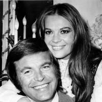Actor Robert Wagner and his former wife, actress Natalie Wood, pose at the Dorchester Hotel in London inn 1972. | AP