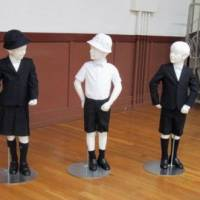 Taimei Elementary School in Tokyo's Ginza district has caused a stir for adopting new uniforms designed by Armani. | CHUO WARD BOARD OF EDUCATION / VIA KYODO