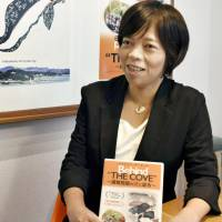 Keiko Yagi won the award for best director of a feature documentary at a film festival in London for 'Behind the Cove,' a movie on Japanese whaling. | KYODO