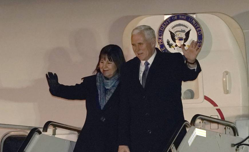 U.S. Vice President Mike Pence arrives in Japan on Asia trip aimed at boosting pressure on North Korea