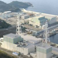 Chugoku Electric Power Co.'s Shimane nuclear power station is seen in this aerial photo taken in March 2013. | KYODO