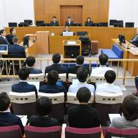 The Naha District Court sentences Kenneth Franklin Shinzato to life in prison on Dec. 1 for the April 2016 rape and murder of a 20-year-old woman in Okinawa. | KYODO