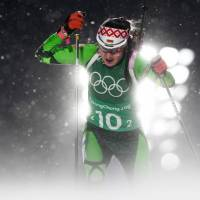 Belarus' Iryna Kryuko competes to win gold in the women's 4x6km biathlon event. | REUTERS