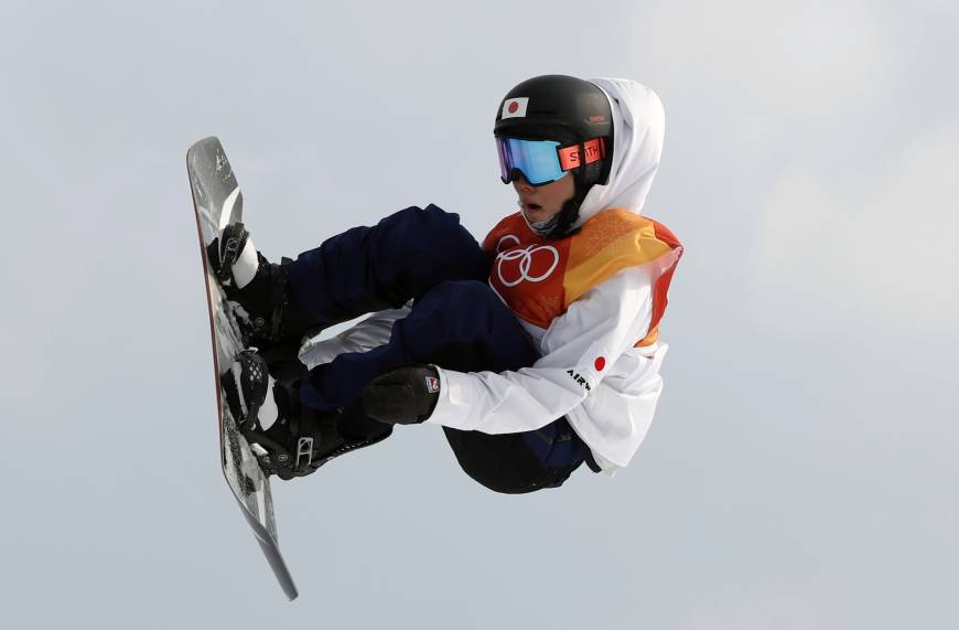 Hiroaki Kunitake of Japan competes during in the slopestyle qualification round at Phoenix Snow Park.