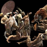Roaring good fun: Ho Tzu Nyen's 'One or Several Tigers' (2017) uses projected images and puppets instead of human actors. | PHOTO COURTESY OF HO TZU NYEN