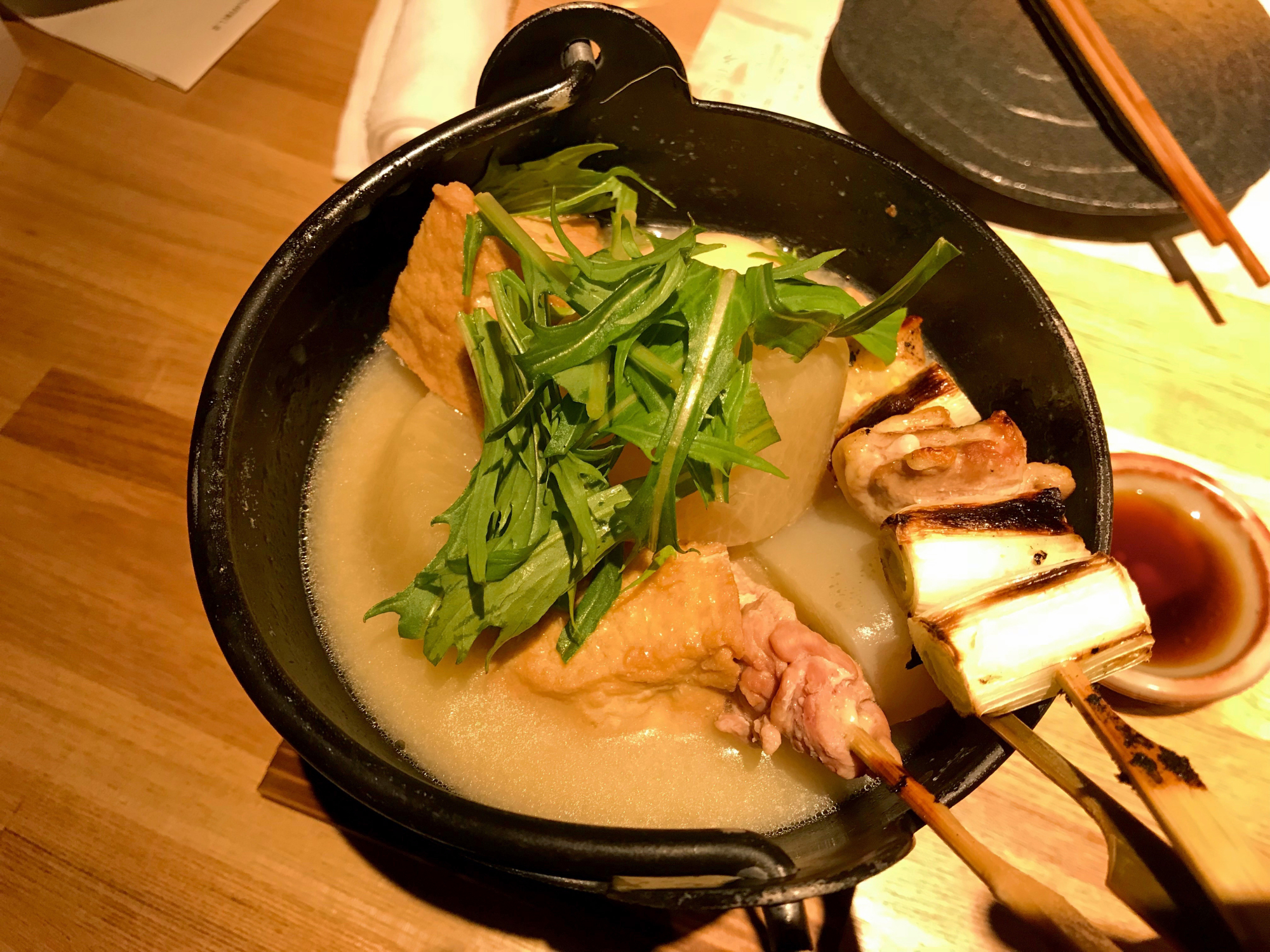 Beyond yakitori: Torisee Takoyakushi's chicken and white miso oden is worthy of exploration. | J. J. O'DONOGHUE