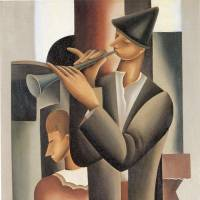 'Street Performers' (1926) by Seiji Togo | THE NATIONAL MUSEUM OF MODERN ART, TOKYO