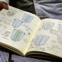 'From the talented sketches in his notebook, a product of 20 years of experience, I remark that Morikage shirt designs carry a classic panache.' | KIT NAGAMURA