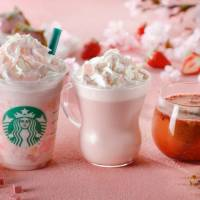 Starbucks Japan beat everybody to the punch with its line of 'Sakura Strawberry' drinks and foods. | STARBUCKS COFFEE