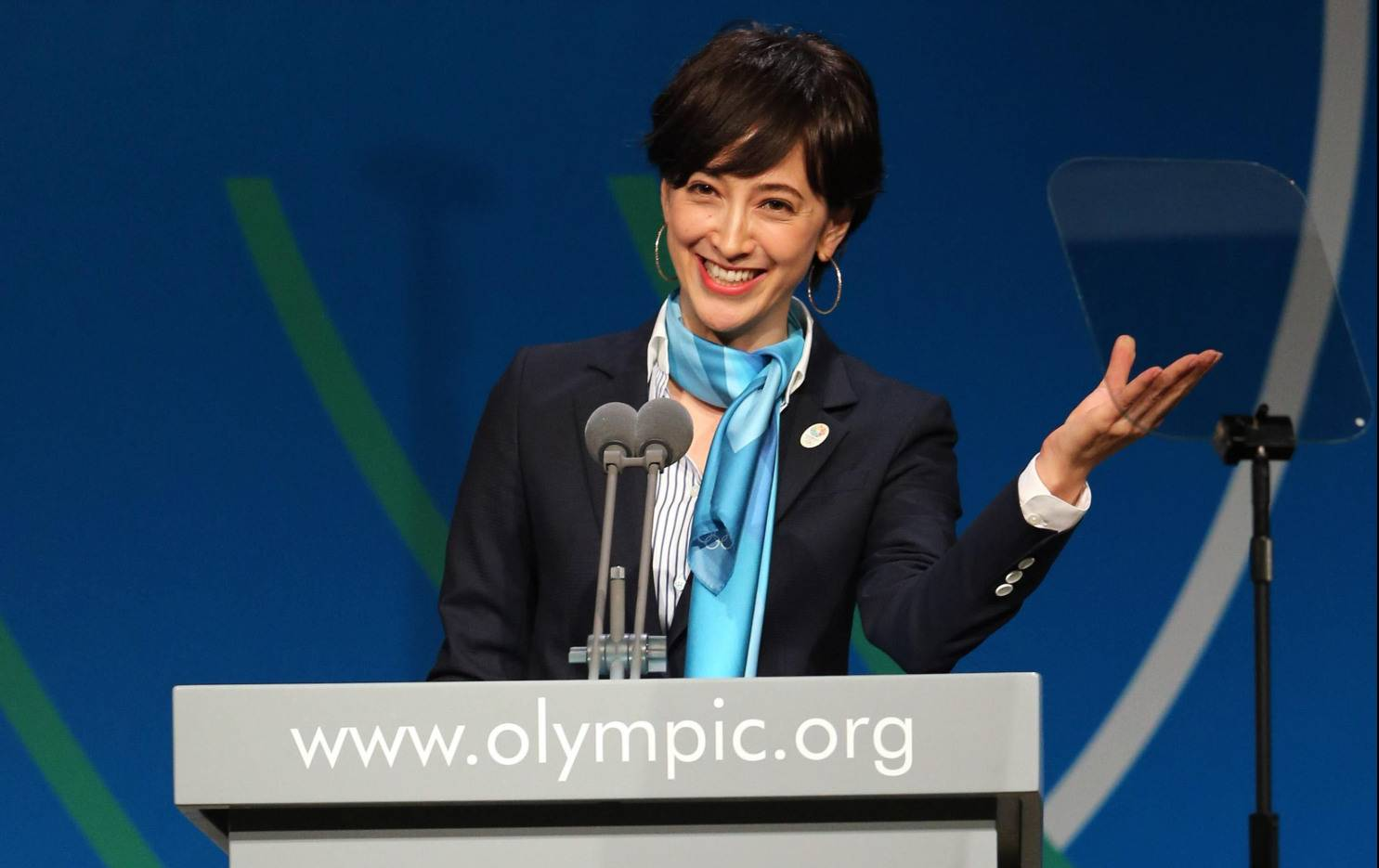 Helping hand: TV announcer Christel Takigawa addresses members of the International Olympic Committee in Buenos Aires in September 2013. | KYODO