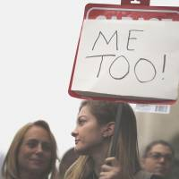 The big issue: Protesters take part in a #MeToo march in Hollywood late last year. | REUTERS