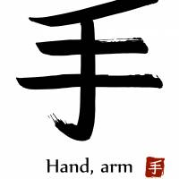 A big hand: The character te (or shu) appears in its classifier or radical form in many a touchy-feely kanji. | GETTY IMAGES