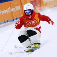 Speed bumps: Daichi Hara secured the first medal for Japan in the 2018 Olympics as well as the country's first medal ever in a  men's freestyle skiing event. | KYODO