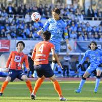 Kawasaki Frontale captain Yu Kobayashi was named J. League player of the year last season and also finished as top scorer with 23 goals. | KYODO