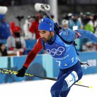 Martin Fourcade becomes first Olympian with three gold medals at Pyeongchang Games