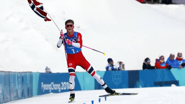 Johannes Hoesflot Klaebo guides Norway to coveted cross-country relay gold