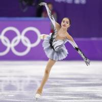 OAR's Alina Zagitova performs on Wednesday in Gangneung, South Korea. Zagitova set a world record with 82.92 points in the Olympic short program. | REUTERS