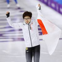 Nao Kodaira is the first Japanese female speedskater to win an Olympic gold medal. | KYODO
