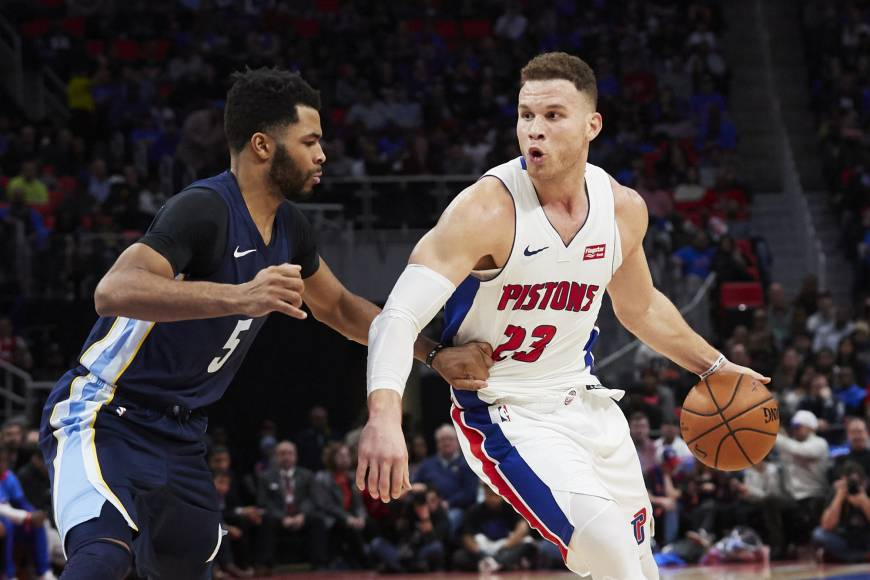 Blake Griffin leads Pistons by Grizzlies in debut