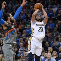 Anthony Davis powers Pelicans past Thunder
