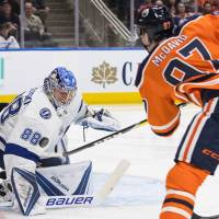 Connor McDavid sparks Oilers with four goals in rout of Lightning