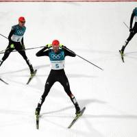 Germany records clean sweep in Nordic combined large hill event